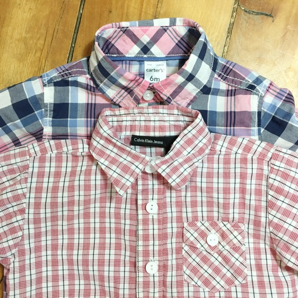 Boys Mix Brand Other - Boys Button Down Shirts Size 6 - 9 Months